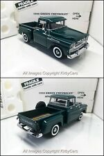 Danbury Mint 1958 CHEVROLET APACHE FLEETSIDE PICKUP TRUCK-NMIB- VERY RARE GREEN!