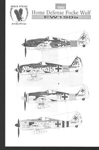 Eagle Strike Decals #72002 Fw 190 Home Defense Focke Wulf German Fighter