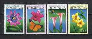 Dominica 2000 Sc#2202-5  Flowers  MNH Set $6.00