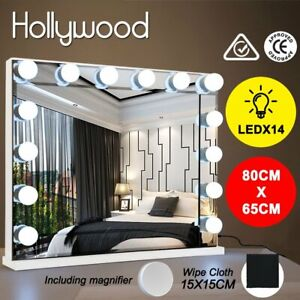 Hollywood Makeup Mirror With Light 14 LED Bulbs Vanity Lighted 80x65CM