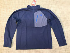 THE NORTH FACE TECH 100 1/2 ZIP COSMIC BLUE SZ LARGE NWT
