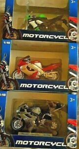 Welly Die-Cast Motorcycles - 3 to collect Superb detail Toys games playsets