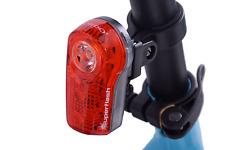 CORDO Agena 3 LED 1/2 WATT 1500 METRI super luminosi clip sulla parte posteriore bici rosso chiaro
