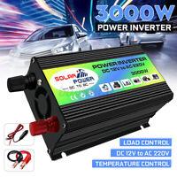 3000W Invertitore di Potenza Per Auto Barca DC 12V to AC 220V Convertitore USB
