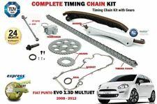 FOR FIAT PUNTO EVO 1.3D MULTIJET DIESEL 2008-> TIMING CHAIN KIT + GEARS + GUIDES