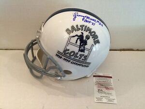 Lenny Moore Signed 1958 1959 Baltimore Colts Champs Full Size Riddell Helmet JSA