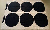 Vintage 50s Marimekko Black White Circles Hanging Tapestry Mid Century Modern