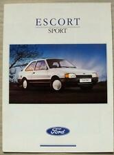 FORD ESCORT SPORT Car Sales Brochure July 1989 #FA 921