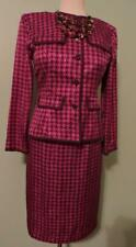 PAPELL SKIRT SUIT, SIZE 6P, 100% SILK, LINED