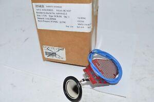 NEW BS&B A4004162-2 1-1/2'' Rupture Disc W/ Sensor GCR-SS 316L/EPDM