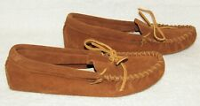 MINNETONKA Brown Suede Soft Sole Moccasins Slipper Shoes - Size 8 M
