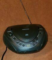 Memorex Portable CD Boombox MP8806 Black CD AM/FM Radio Carry Handle, Works!