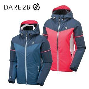 Dare2b Enclave Women's Quilted Hooded Winter Ski Waterproof Jacket Coat RRP £150