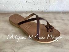 Sandali salentini artigianali da donna in cuoio e pelle Made in Italy