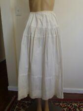 Antique Victorian White Cotton Women's Petticoat