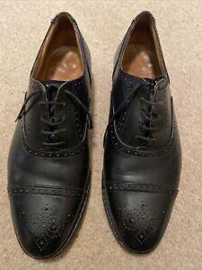Trickers Mens Black Brogue Oxfords Shoes 9.5