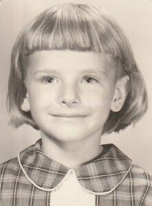 School Girl FOUND PHOTO Original BLACK and WHITE Portrait FREE Shipping D 86 6 I