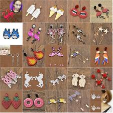 Flamingo Totoro Pikachu Pendant Earrings Ear Stud Clip Cuff Fashion Jewelry Gift