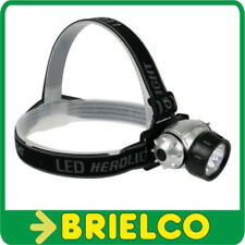 LINTERNA FRONTAL DE 7 LEDS BLANCOS ULTRALUMINOSOS FIJACION CINTA ELASTICA BD3730