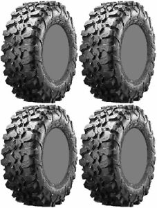 Four 4 Maxxis Carnivore ATV Tires Set 2 Front 30x10-14 & 2 Rear 30x10-14