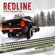 "60"" Triple LED Truck Tailgate Bar Sequential Turn Signal Amber Rigid Brake Light"