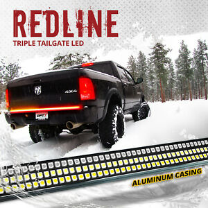 """OPT7 60"""" TRIPLE LED Truck Tailgate Bar Amber Sequential Turn Signal Backup Light"""