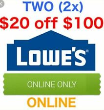 2coupons Lowes for $20 off $100 discount code online only