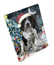 Holly Jolly Christmas Bluetick Coonhound Dog Tempered Cutting Board Large Db455