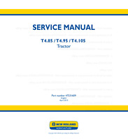 New Holland T4.85 T4.95 T4.105 Tractor Printed Workshop Service Manual