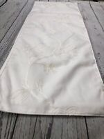 "Laura Ashley Off-White Embroidered Table Runner  13""x 70""          1992"