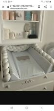 13ft Soft Pad Braided Knot Pillow Cradle, Crib, Bed Soft white
