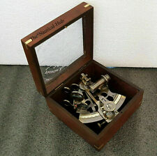 Nautical Brass Sextant Maritime Working Wooden Box Victorian Travelling Sextant