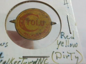 Antique Vintage CREWS TOLU WALKERTOWN NC TOBACCO TAG Tin
