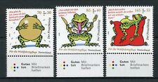 Germany 2018 MNH Princess & The Frog 3v Set Cartoons Frogs Welfare Stamps