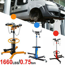 Adjustable Height Hydraulic Transmission Jack 2 Stage Auto Shop Car Lift 1660lbs