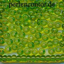 Glasperlen  23 g  grün smaragd transparent  4,0 mm  Preciosa Rocailles  (AZ1429)