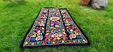 Hand Embroidered Wall Hanging Uzbek Silk Luxury Suzani Vintage Embroidery