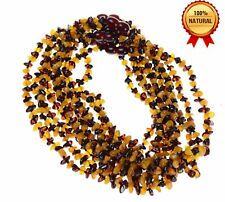 Lot 10 Wholesale Baltic amber baby cherry-yellow necklace + each certificate