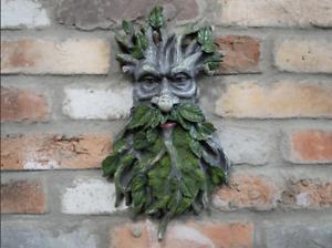 Treeman Green Man Face Plaque Garden Home Wall Decor Gift Pagan Gothic