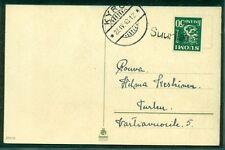 FINLAND 1943, Village cancel SUURILA ties 50p to postcard, VF