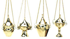 1 Assorted Hanging Brass Censer Incense Charcoal Cone Resin Burner NEW {:-)