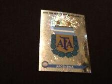 Panini #107 logotipo e insignia Argentina Copa del Mundo 2010 Swiss Gold Edition Pegatina
