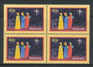Australian Stamps: 1998 Christmas - $0.40 Block of 4