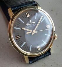 Orologio da uomo Bulova ACCUTRON  Cassa Placcata oro. Completamente revisionato.