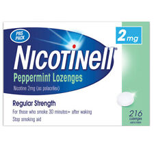 Nicotinell 2mg Nicotine Peppermint Lozenges 216 Extra Strength Quit Smoking Aid