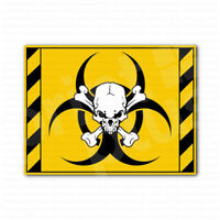 Biohazard Skull Inside Danger Sign Sticker