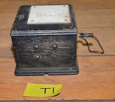 Antique Western Electric telephone magneto 48A oak dovetail case collectible T1
