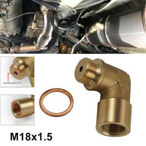 M18x1.5 Angle 90° Lambda O2 Oxygen Sensor Extender Spacer Set Brass Fits Audi A4