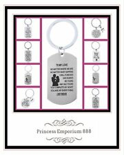 Keyring Mother-Son-Daughter-Dad-F riend Stainless Steel Engravable Inspirational