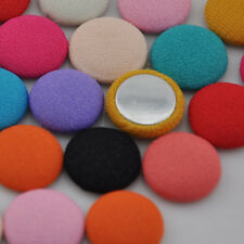 15mm round chiff fabric covered button flat back as jewelry accessories CT09